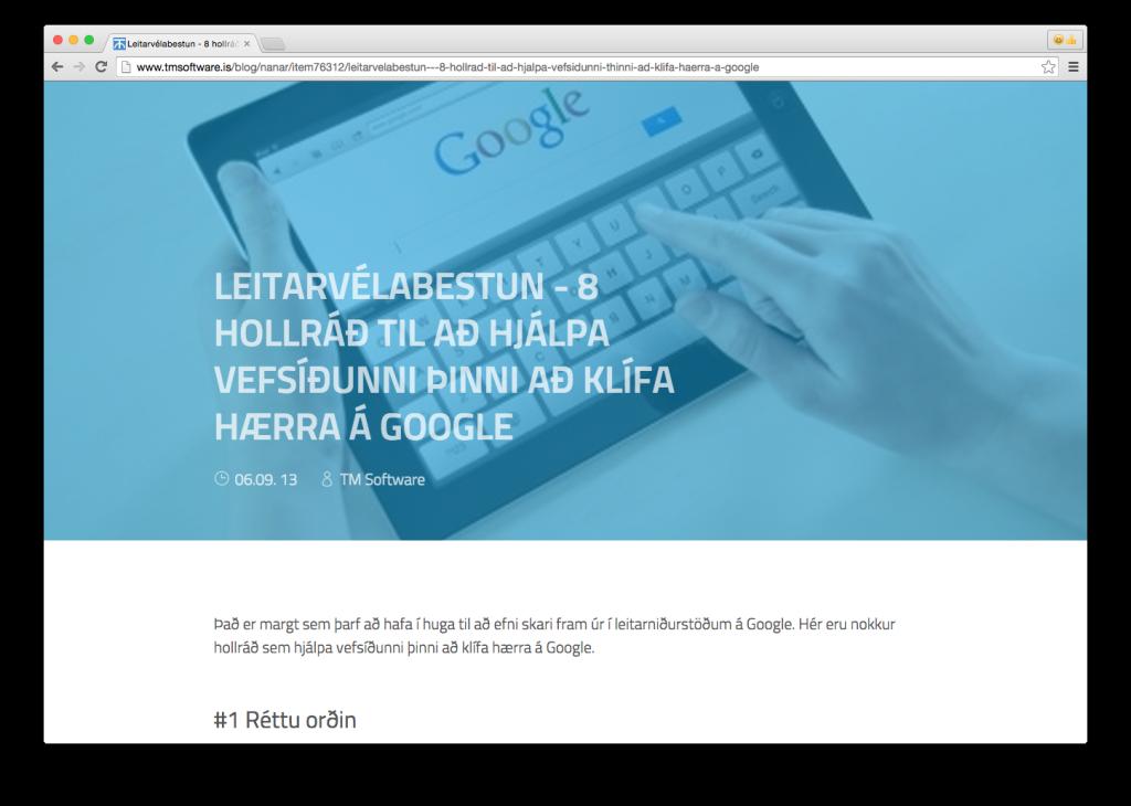 Article: Leitarvélabestun - 8 hollráð til að hjálpa vefsíðunni þinni að klífa hærra á Google - Part 1